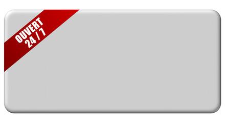 Button grau Band rot NEUTRAL OUVERT 24/7