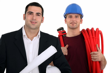 Architect and plumber