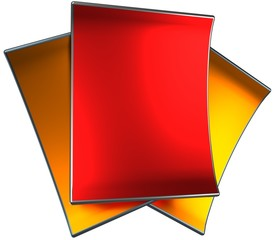 shiny metallic paper, 3d render isolated on white