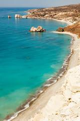 Rock of Aphrodite or Petra tou Ramiou in Cyprus, Europe