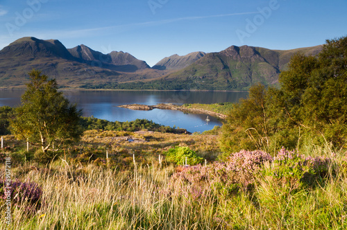 Torridon mountains over Torridon loch