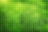 Green tiled mosaic background - 39072537