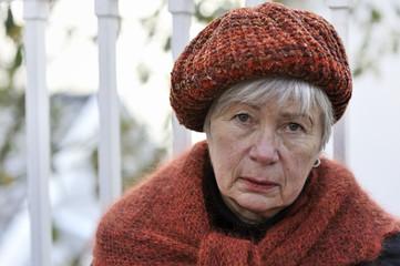Depressed Senior Woman 11