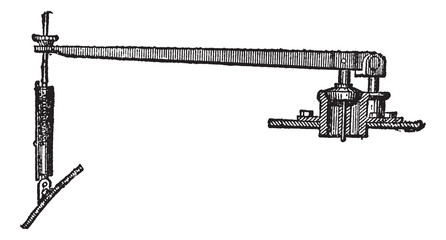 Spring-operated Relief Valve, vintage engraving