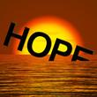 Hope Word Sinking In The Sea Showing Despair