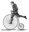 Penny-farthing or High Wheel Bicycle, vintage engraving - 39074927