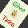 Give Take Switch Showing That Giving Is More Important