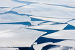 Leinwanddruck Bild - Frozen sea with big ice floes