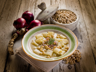 soup with  chickpeas and pasta