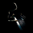Leinwanddruck Bild - Piano playing pianist concert. Classical music