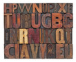 antique wood type letters