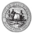 Seal of the State of West Virginia, USA, vintage engraving