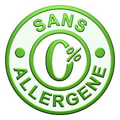 """Cachet """"Sans Allergène"""""""