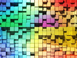 Fototapety Rainbow wall 3d