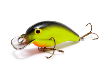 Chartreuse Crankbait with Orange Belly