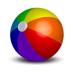 Vector illustration of inflatable beach ball