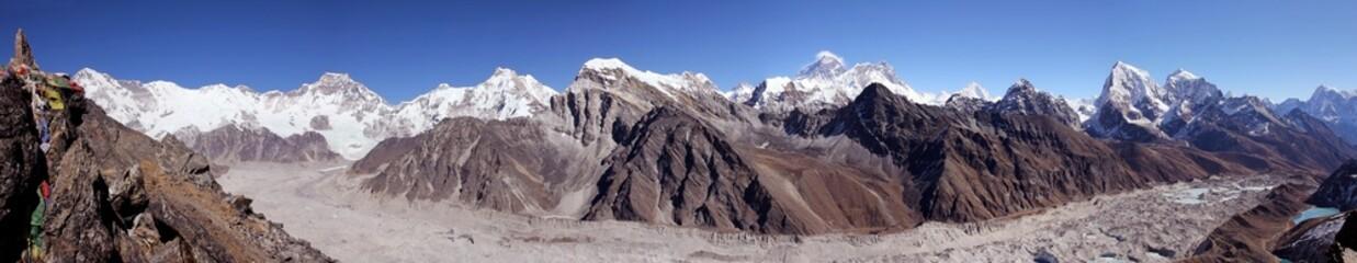 Cho Oyu, Everest, Lhotse, Nuptse from Gokyo-Ri