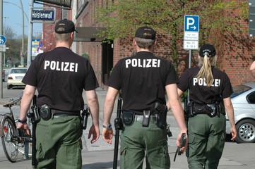 Polizei, Polizisten, Streifendienst, Hamburg, Polizeibeamte