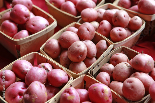 containers of red potatoes