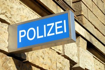 Polizei, Schild, Polizeirevier, Kriminalität, Dresden