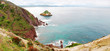 panoramica della costa del sulcis, in sardegna