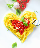 Fototapety Heart Shaped Spaghetti