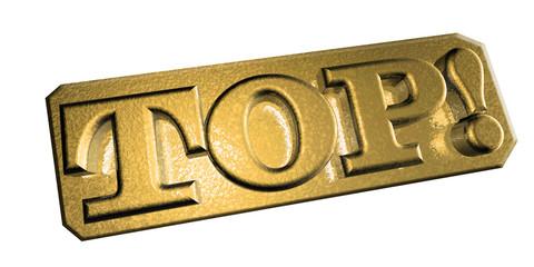 3D Goldschrift - TOP
