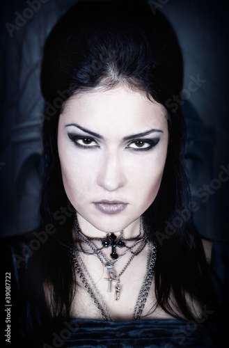 A portrait of the girl in Gothic style