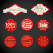 Vector vintage discount shopping labels