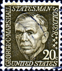 George C. Marshall. 1880-1959. US Postage.