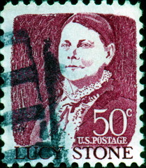 Lucy Stone. 1818 - 1893. US Postage.