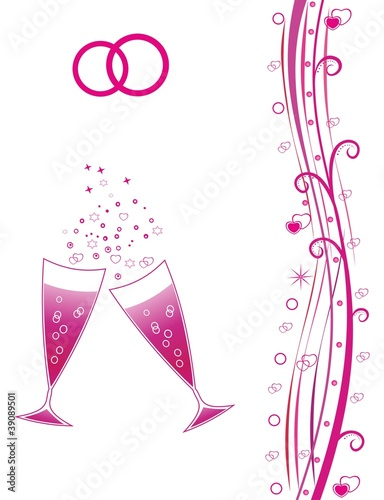 Celebration with champagne glasses