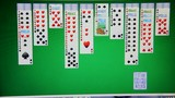 Solitaire on the computer monitor