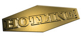 3D Goldschrift - HOTLINE