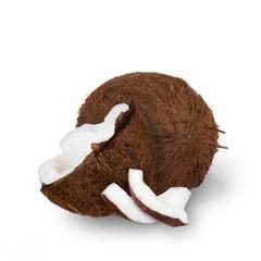 Coconut over white