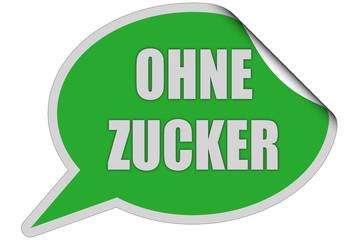 SP-Sticker grün curl oben OHNE ZUCKER