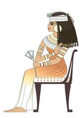 elegant woman in ancient egypt