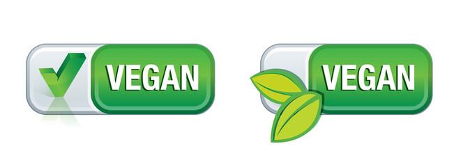 bouton végétarien, végétalien