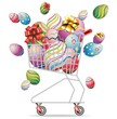 Carrello Spesa Uova Pasqua-Shopping Cart Easter Eggs-Vector