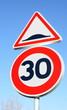 panneau ralentisseur, limitation à 30
