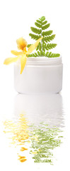Cosmetic cream with flower