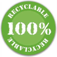 bouton 100 % recyclable