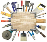 Carpentry background poster