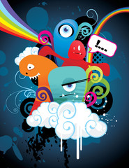 personajes abstractos en vector