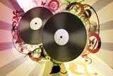Grunge background_Vinyl record.