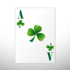 St. Patrick's Day Playing Card