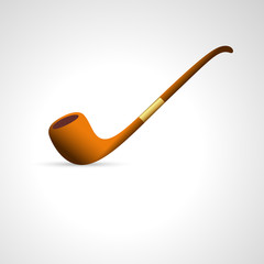 Vector Illustration of Smoking Pipe