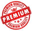 Premium quality red grunge stamp