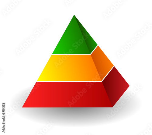 Vector pyramid illustration