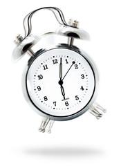 Clásico reloj despertador sonando